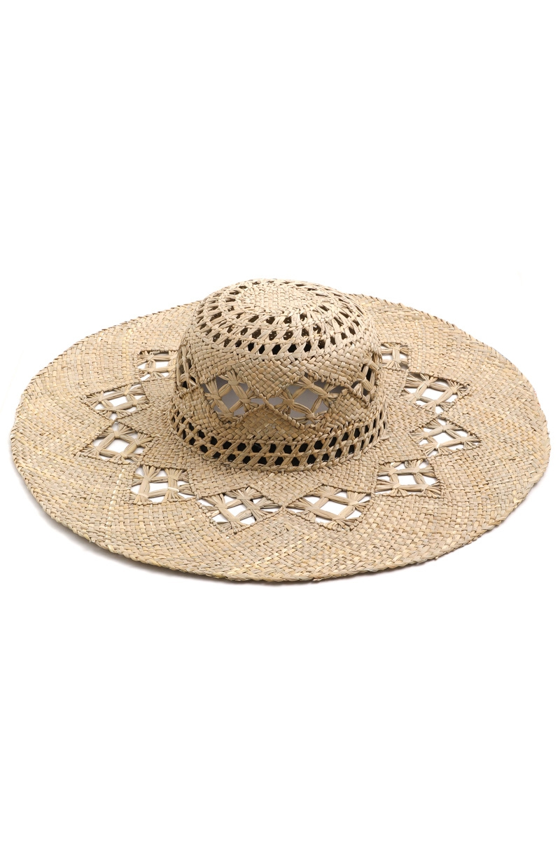 Wide Brim Straw Hat - orangeshine.com