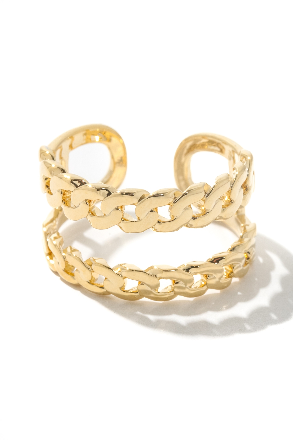 Layered Chain Link Band Ring - orangeshine.com