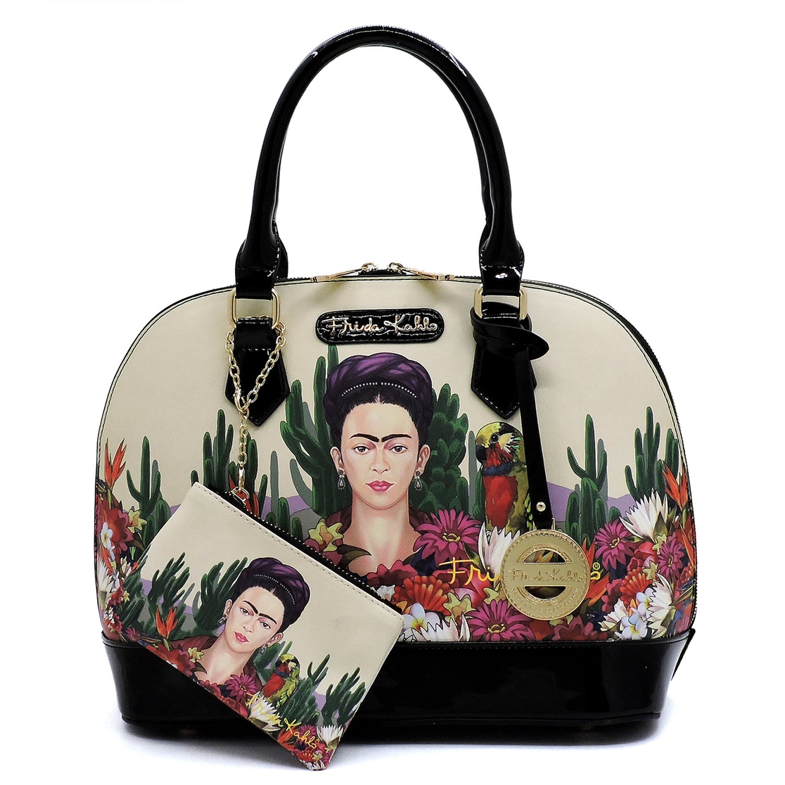 Frida Kahlo Dome Satchel - orangeshine.com