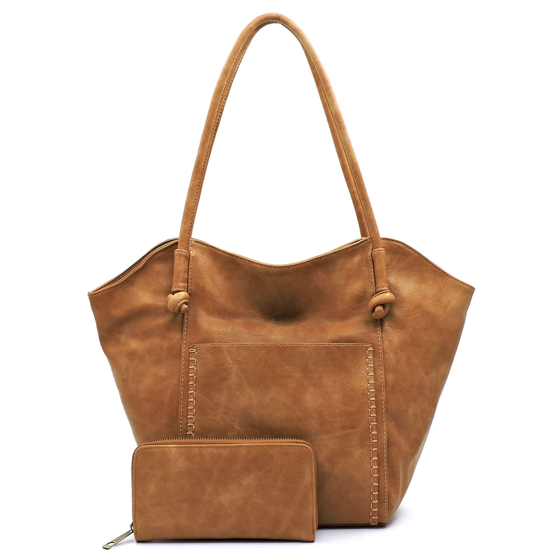 Fashion Front Pocket 2-in-1 Shopper - orangeshine.com