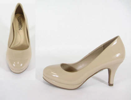 Qupid Mini Platform Office Pumps - orangeshine.com