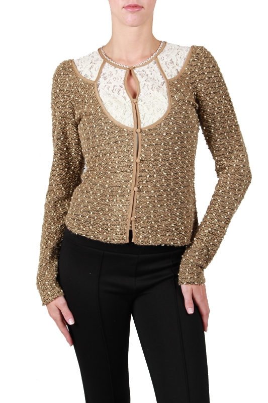 RJ4932  SWEATER TOP WITH LACE DETAIL - orangeshine.com