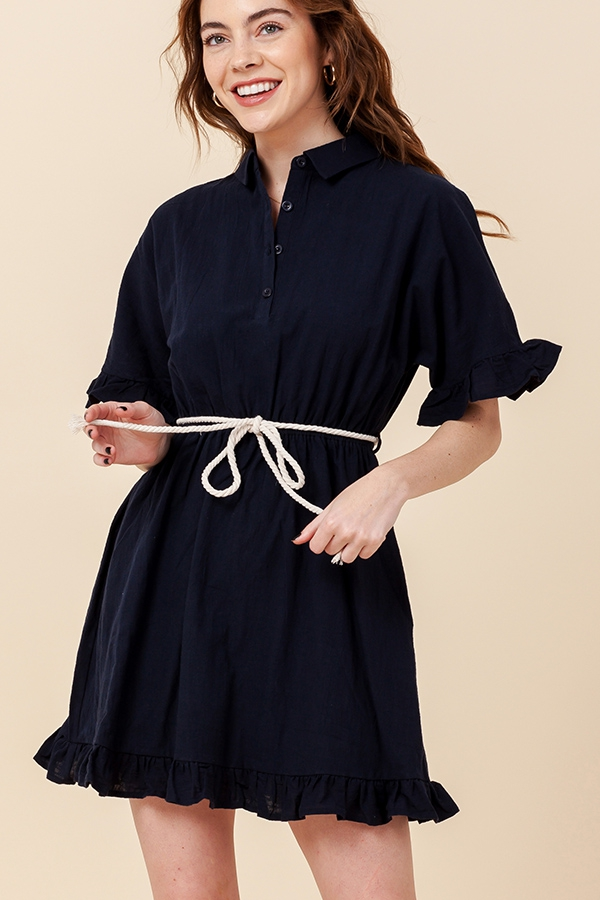 KEEP GOING SHIRT DRESS - orangeshine.com