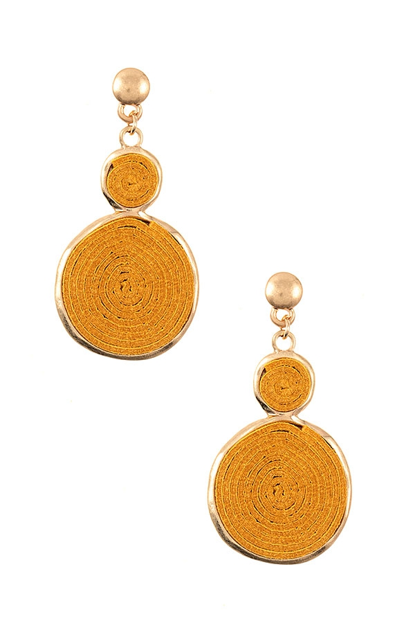 ROUND LINK WOVEN FASHION EARRING - orangeshine.com