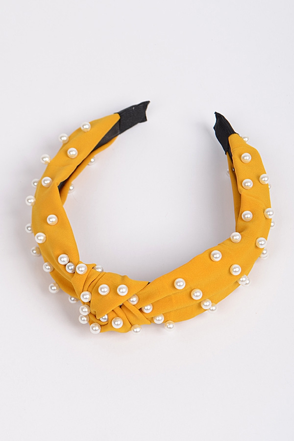Monotone Knotted Head Band With Pear - orangeshine.com