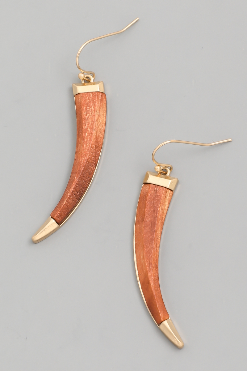 Wooden Talon Drop Earrings - orangeshine.com