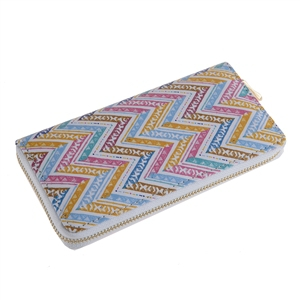 CHEVRON PRINTED ZIPPER WALLET - orangeshine.com