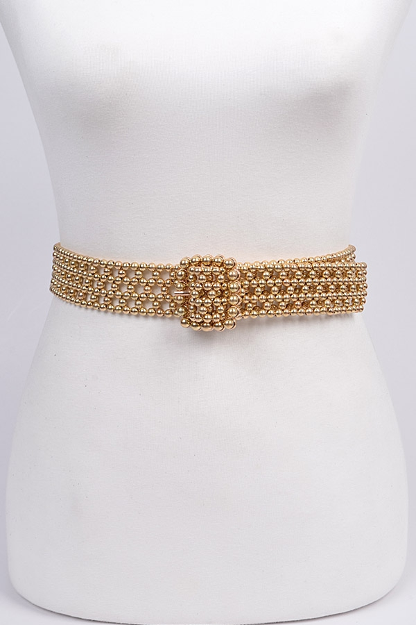 Knit Beads Buckle Belt - orangeshine.com