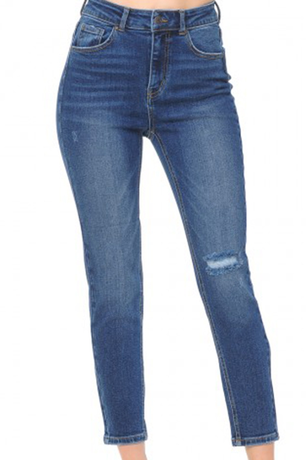 High-rise ankle skinny denim - orangeshine.com