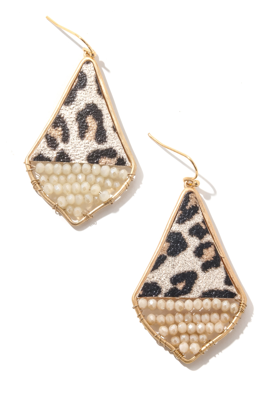 Triangular Animal Print Drop Earring - orangeshine.com
