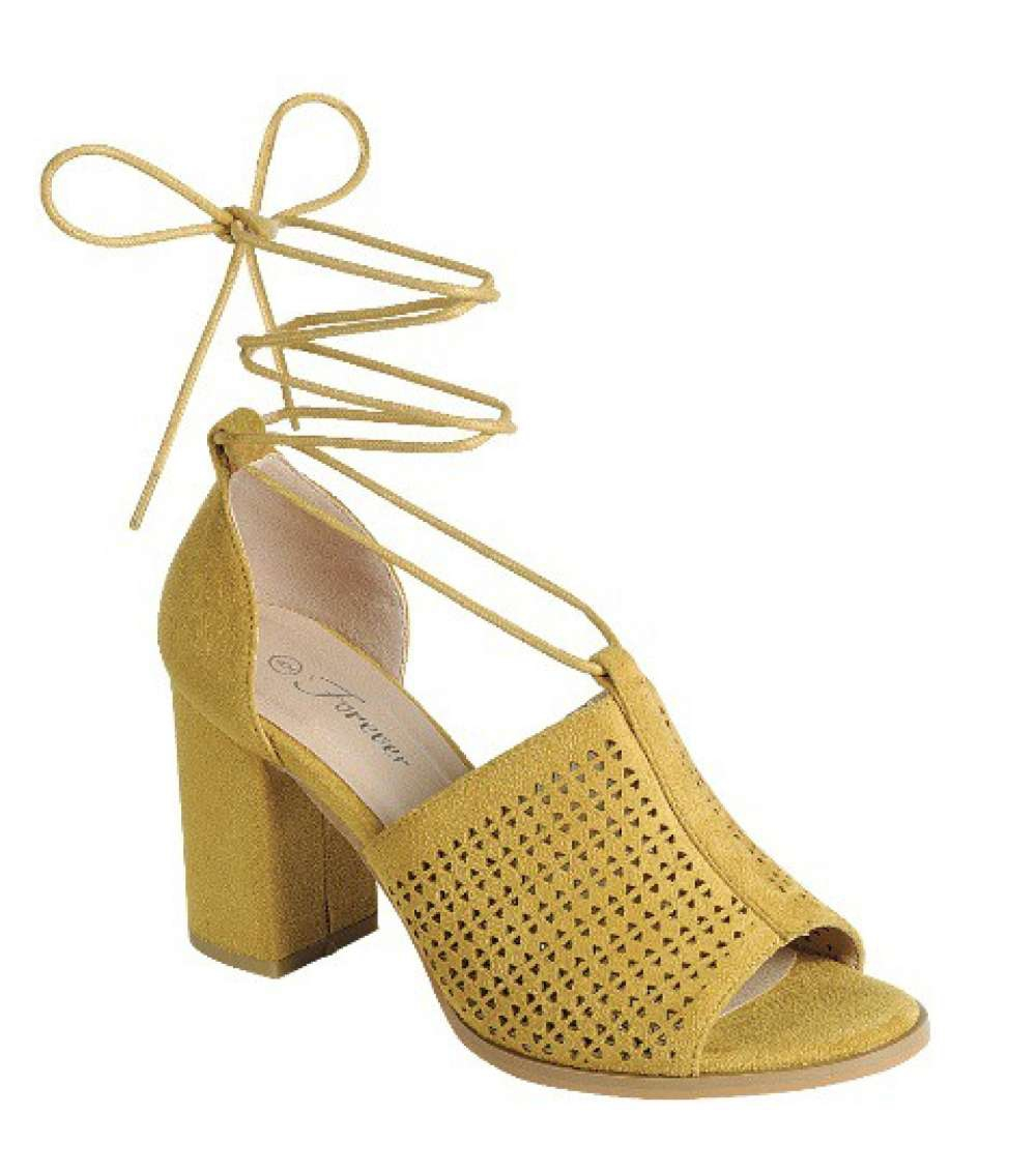 LADIES OPEN TOE BLOCK HEEL SANDALS  - orangeshine.com