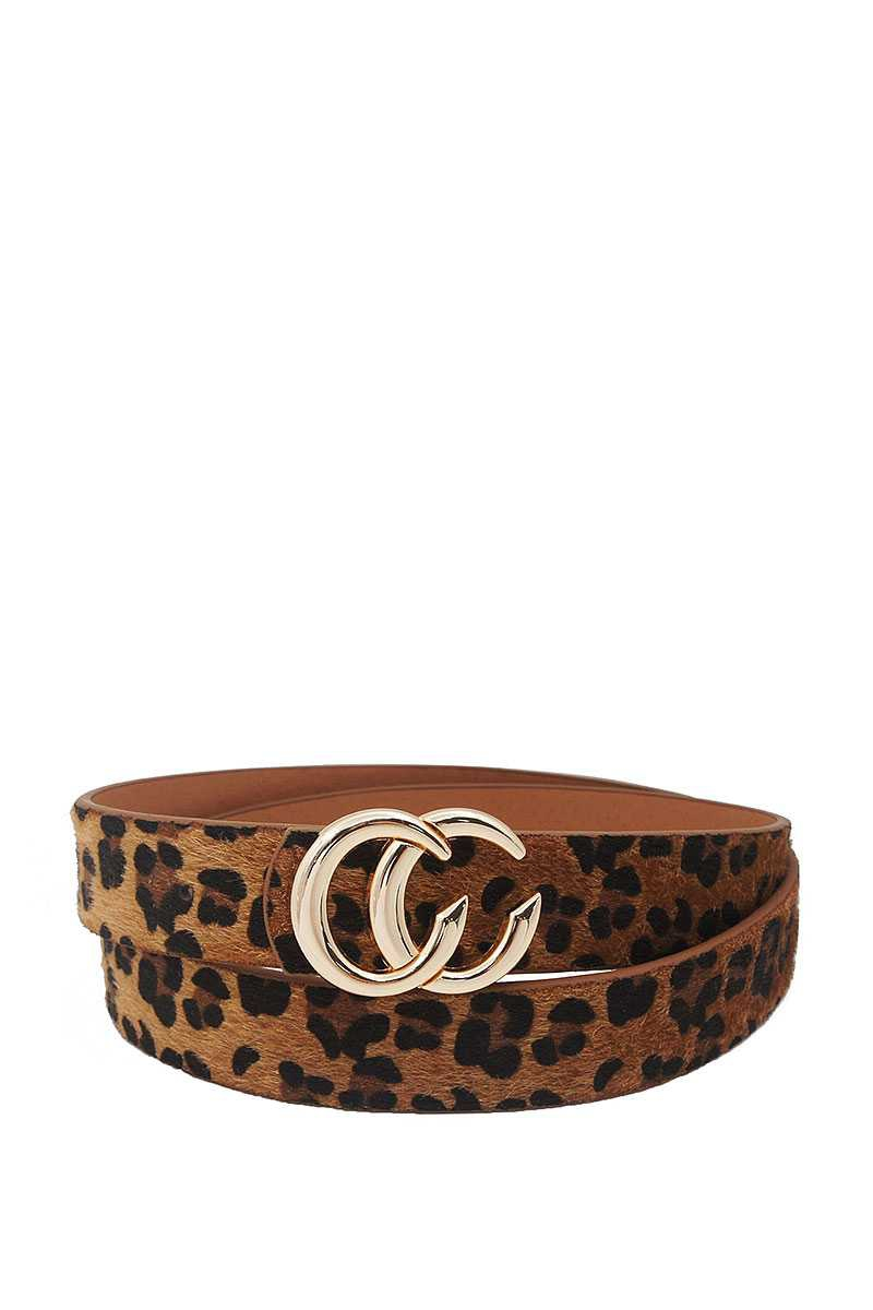 FASHION TRENDY LEOPARD FUR BUCKLE  - orangeshine.com