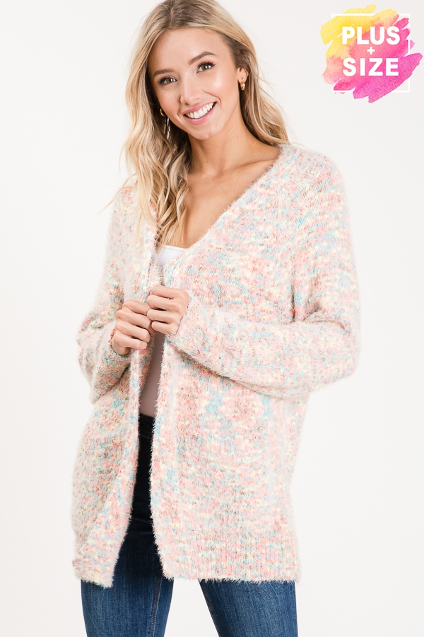 LONG SLEEVE CARDIGAN PLUS SIZE - orangeshine.com