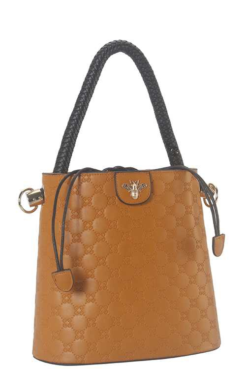 2 IN 1 BEE ACCENT SATCHEL WALLET SET - orangeshine.com
