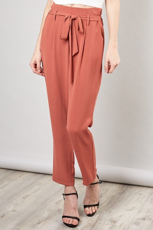 SELF-TIE PANTS - orangeshine.com