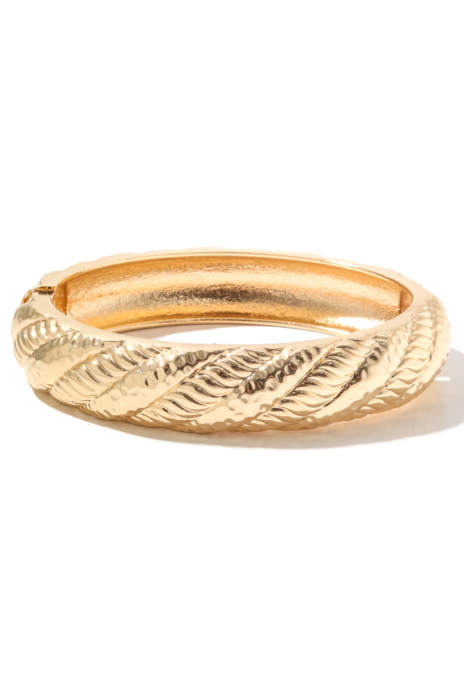 Metallic Rope Twist Bangle Bracelet - orangeshine.com