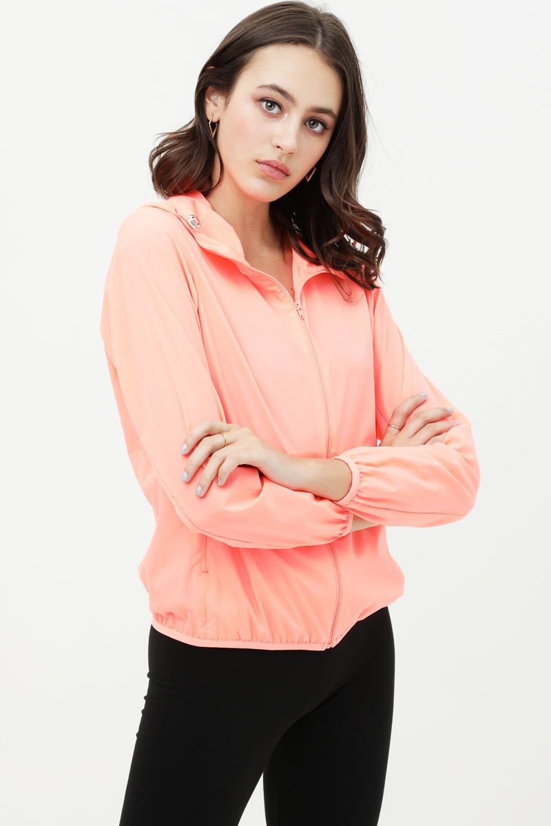 ZIP UP HOODED JACKE - orangeshine.com