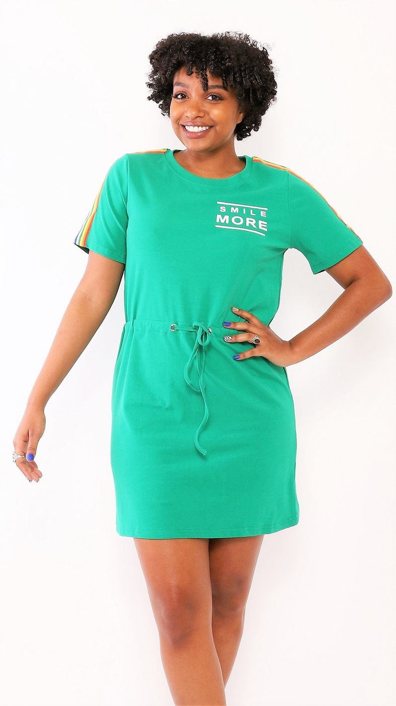 OVERSIZED T SHIRT DRESS  - orangeshine.com