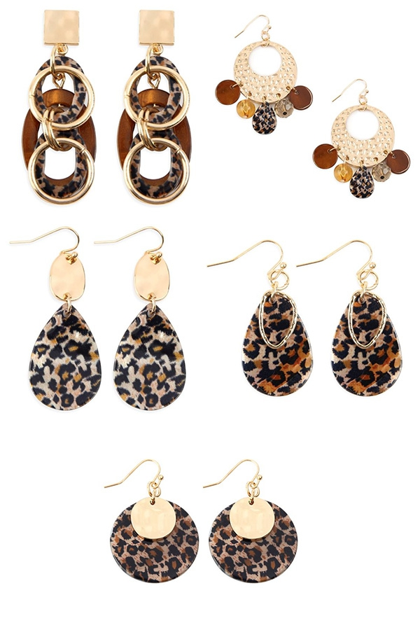 ANIMAL STYLE DANGLE DROP EARRINGS - orangeshine.com
