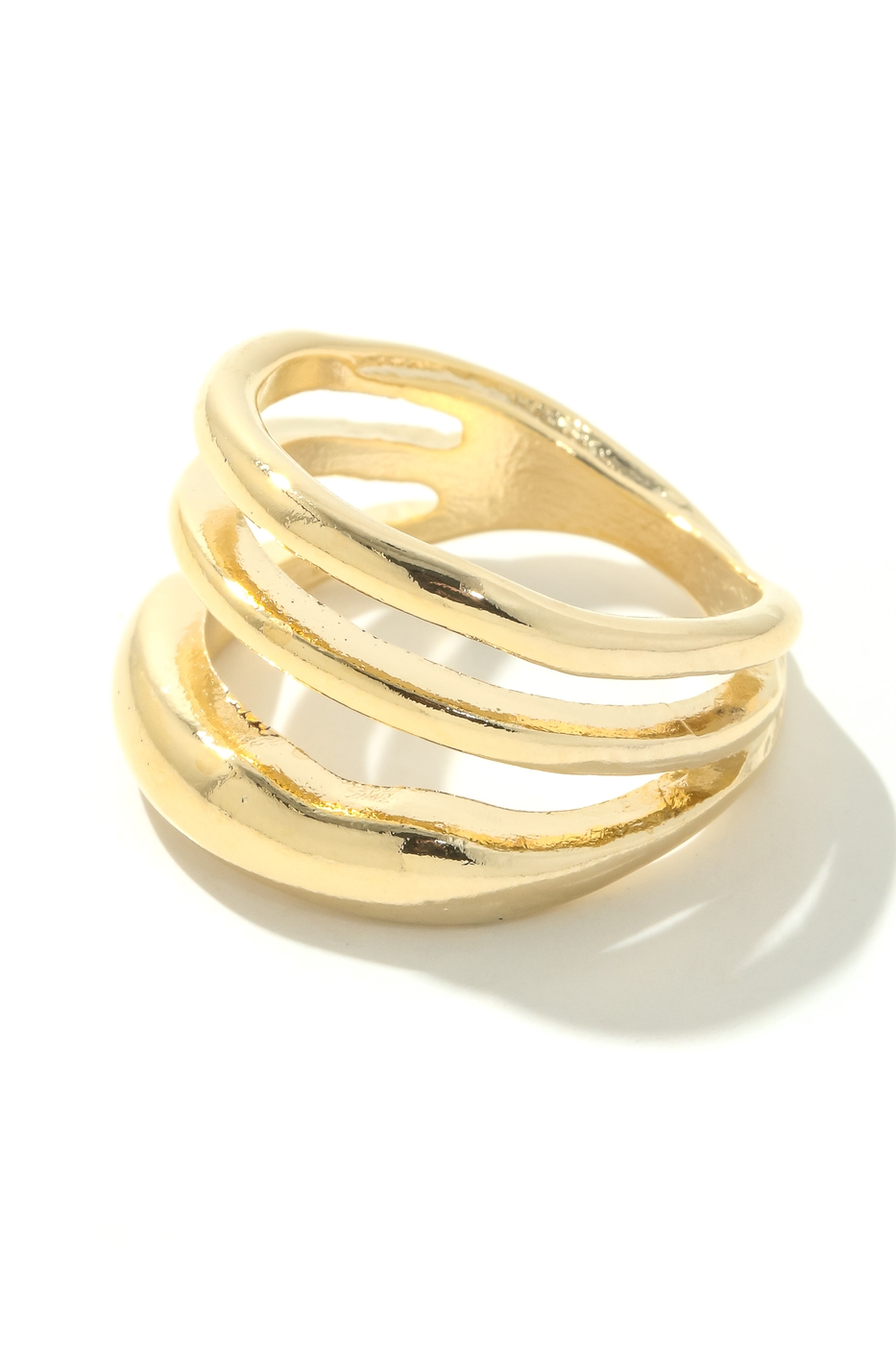 Multi Strand Metallic Band Ring - orangeshine.com