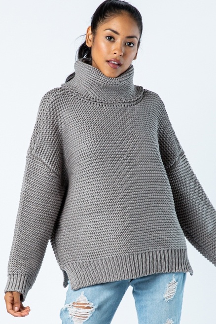 Chunky Knit Sweater - orangeshine.com