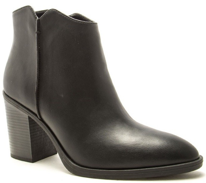ZIPPER LEATHER ANKLE BOOTIES - orangeshine.com