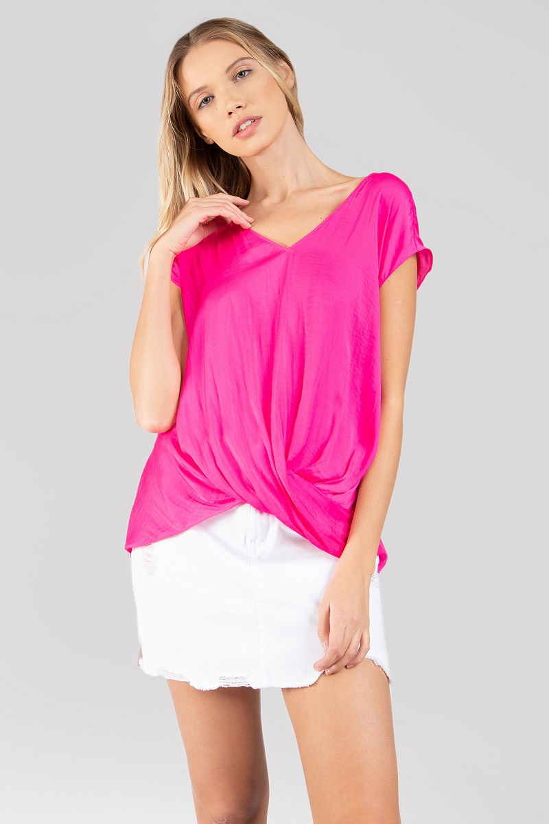 Drop Shoulder Regular Blouse - orangeshine.com