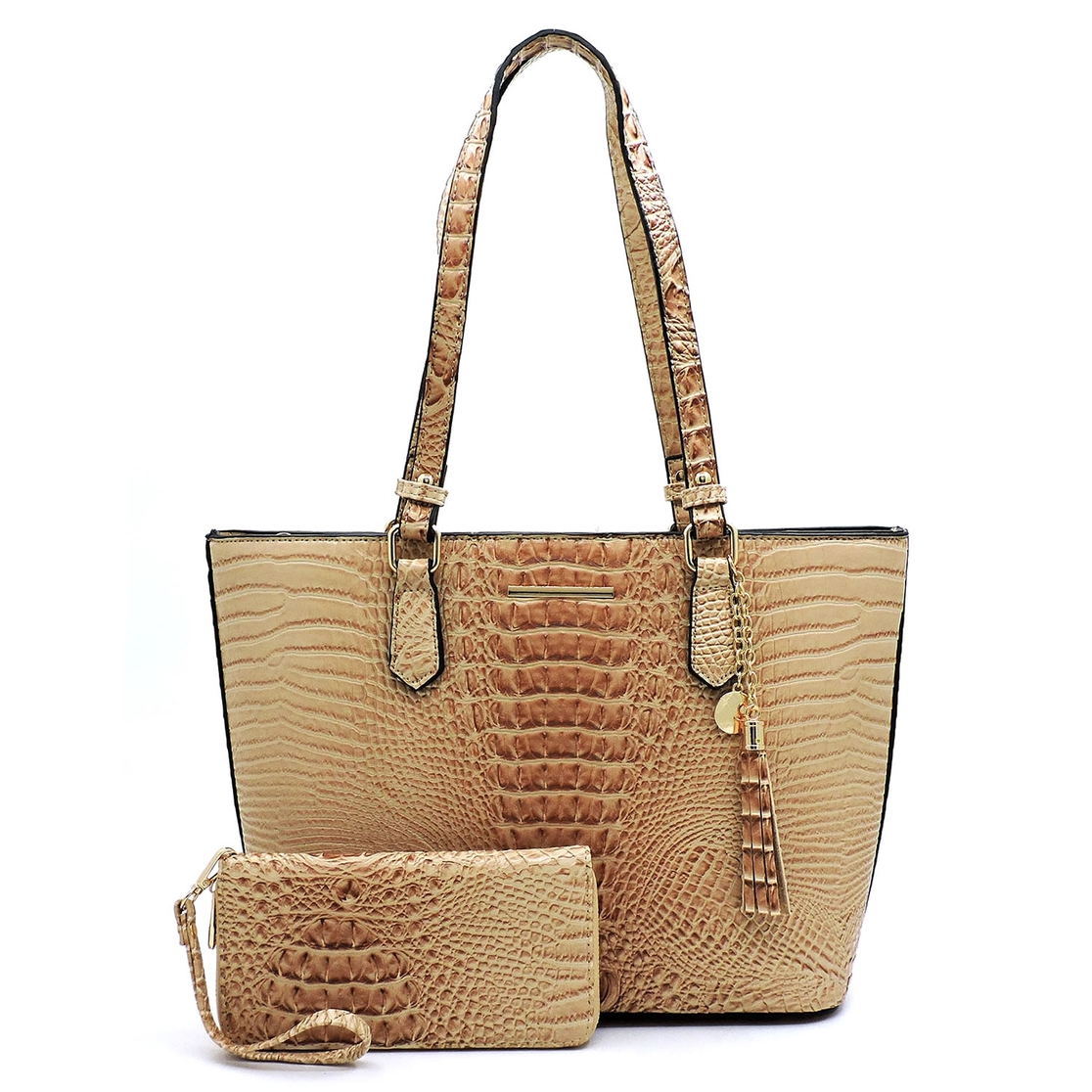 Croc Alligator 2-in-1 Shopper - orangeshine.com