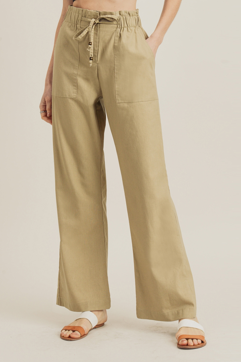 Paper Bag Linen Pants - orangeshine.com