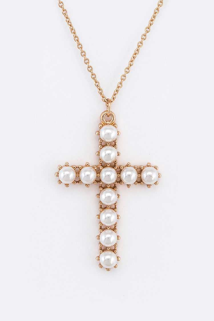 Pearl Pave Cross Layer Convertible N - orangeshine.com
