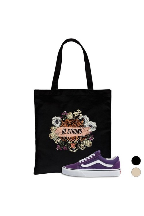 Be Strong Canvas Bag - orangeshine.com