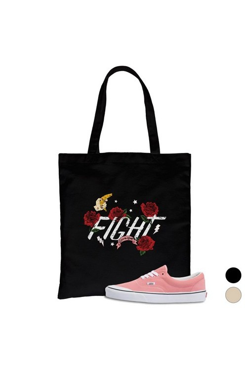 Fight Like A Girl Canvas Bag - orangeshine.com