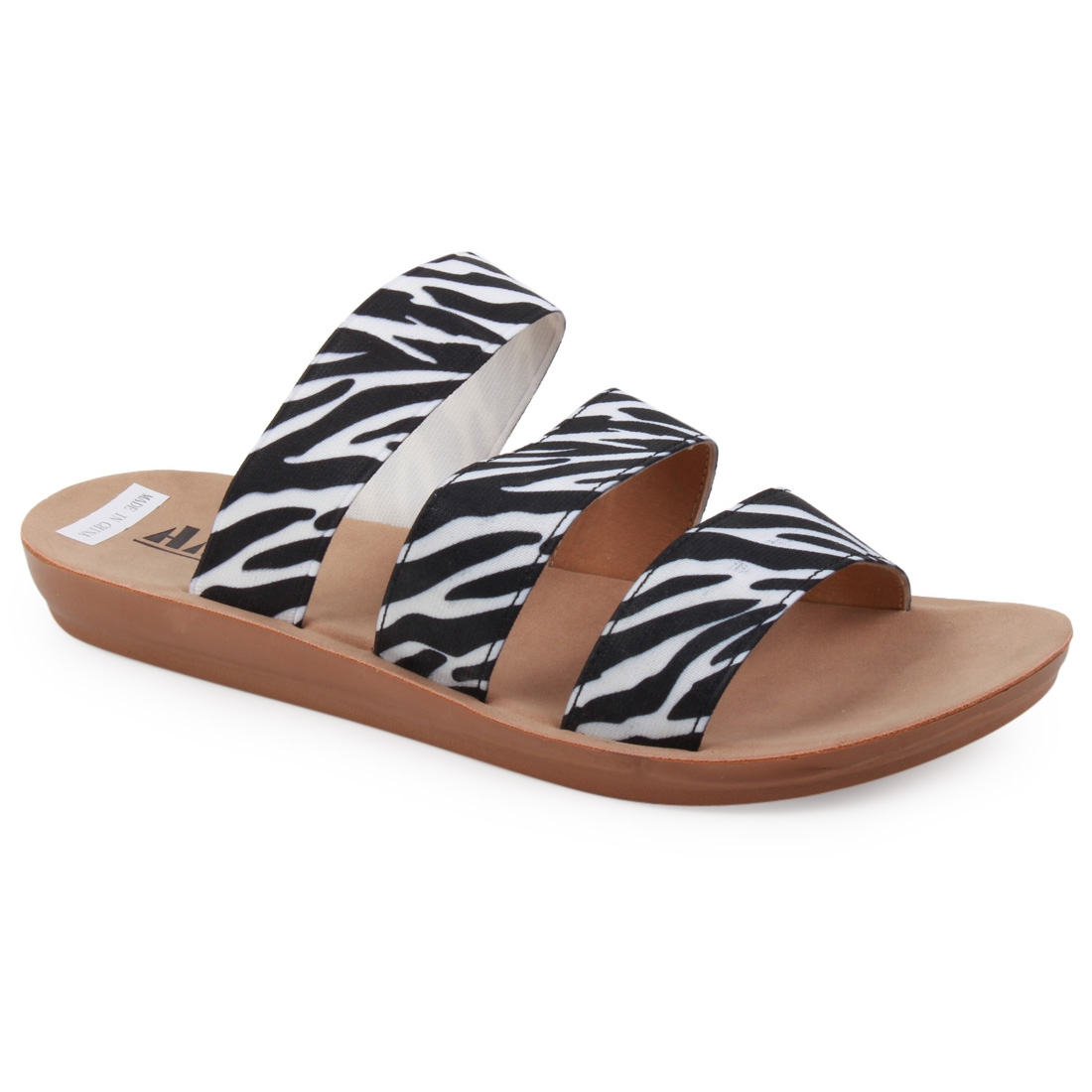 American Mettle Slide Flat Sandals   - orangeshine.com