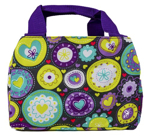 Hearts Insulated Lunch Bags - orangeshine.com