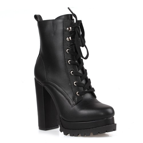Tolula-01 Lace Up Booties - orangeshine.com