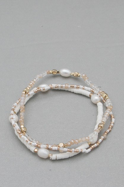 GLASS BEADS STRETCH BRACELET - orangeshine.com