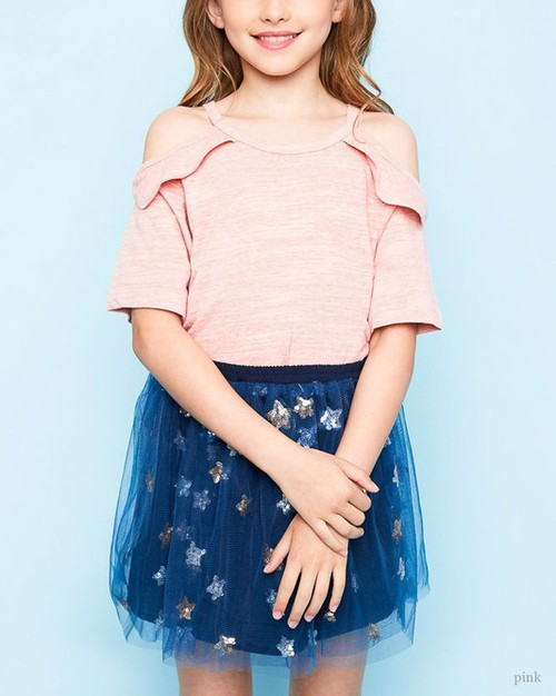 Cold Shoulder Kids Top - orangeshine.com