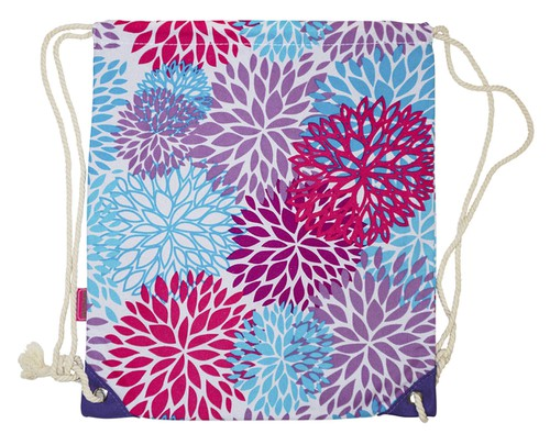 Floral Bloom Drawstring Backpack - orangeshine.com