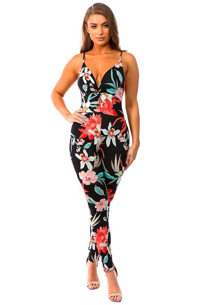 FITTED SWEETHEART SKINNY JUMPSUIT - orangeshine.com