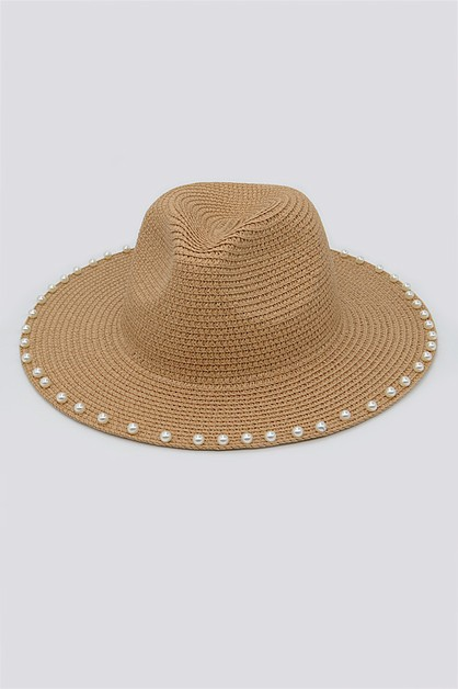 Beaded Straw Hat - orangeshine.com