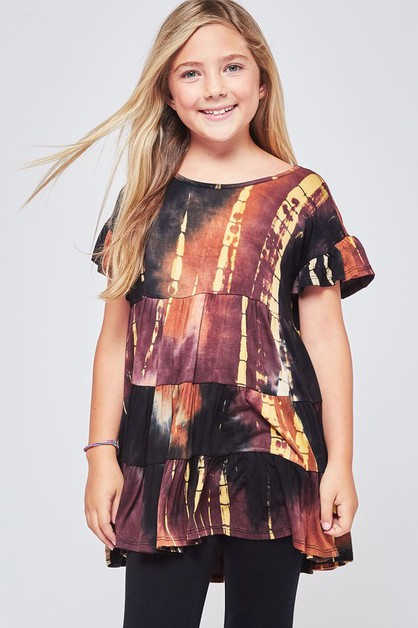 KIDS SIZE TIEDYE BABY DOLL TUNIC TOP - orangeshine.com