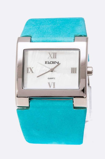 ELGIN Sueded Band Square Watch Box S - orangeshine.com