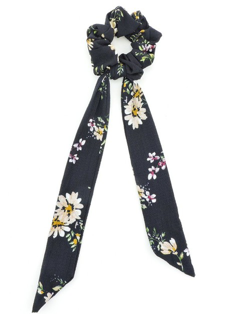Floating Flowers Crepe Hair Scarf - orangeshine.com