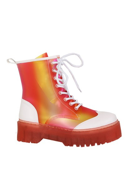 Colorful Thick-soled Martin Booties - orangeshine.com
