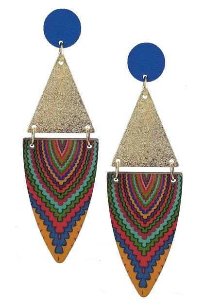 Tribal Dangle Earring - orangeshine.com