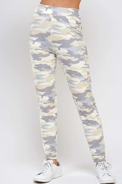 Camo print super soft sweatpants - orangeshine.com