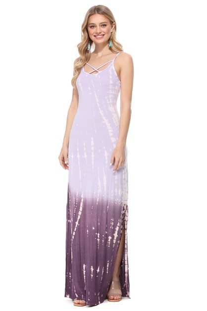 OMBRE TIE DYE STRAPPY MAXI DRESS - orangeshine.com