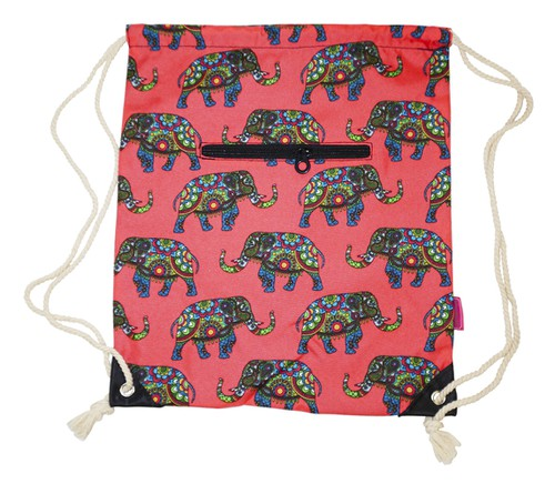 Elephant Drawstring Backpack Cinch - orangeshine.com