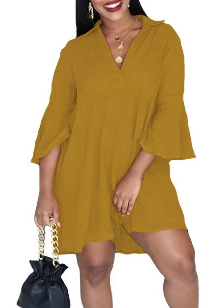 ONE PIECE MAXI DRESS LONG SLEEVE - orangeshine.com