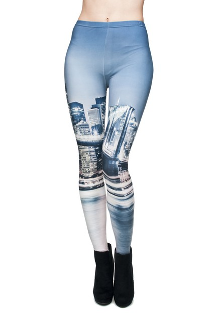 Bridge Digital Printed Leggings - orangeshine.com